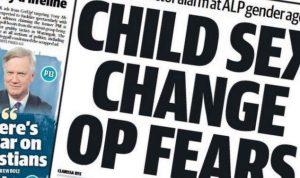 The Telegraph Criticized For Sensationalist Negative Font Page Story on Trans Children